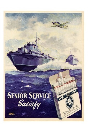 Senior Service 1950s Cigarette Advert Print - Vintage Advertising Posters - Retro Posters iPosters £7.99