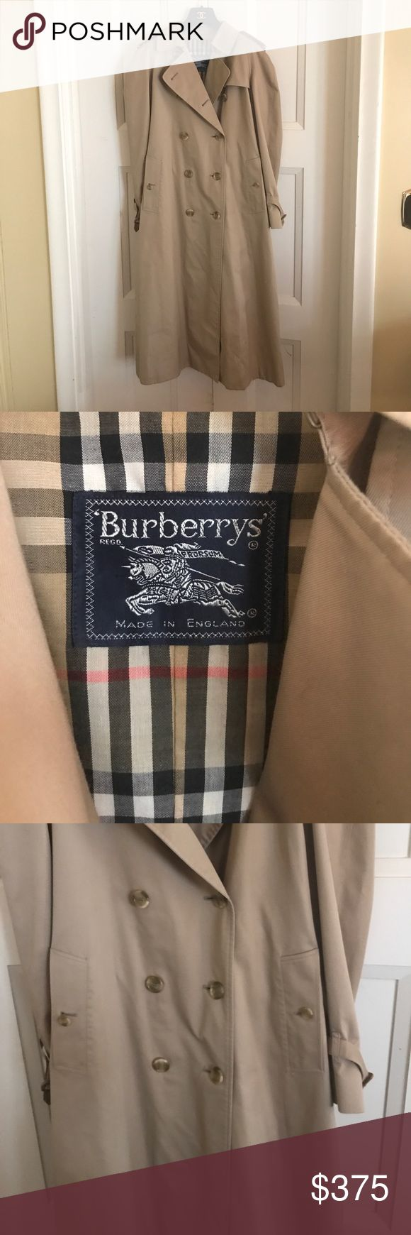 Burberry authentic classic kaki trench coach M Burberry authentic classic kaki trench coach size M in really good condition worn very few times. Serious buyers only please - ask questions or for more detailed specific photos, numbers, measurements etc. negotiable price wise within reason. Make an offer! Burberry Jackets & Coats Trench Coats