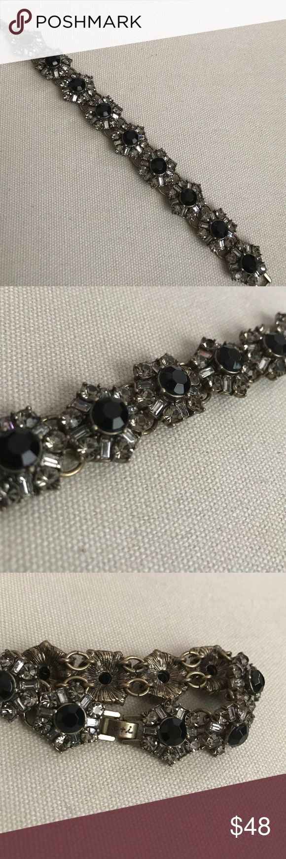 Chloe and Isabel Art Deco fanfare bracelet Chloe and Isabel Art Deco fanfare bracelet. Features black stones with crystal accents. A beautiful touch to any occasion. No trades please. Chloe + Isabel Jewelry Bracelets