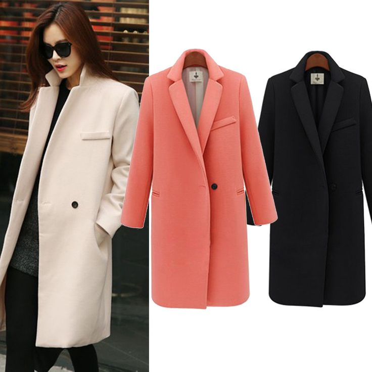 Hot Women Ladies Winter Warm Woolen Lapel Slim Long Trench Peacoat Coat Jacket Overcoat Outwear. Design: Vibrant colors for your choice, this long and slim coat is very classy and elegant, well crafted, perfectly fits for fashion women. | eBay!