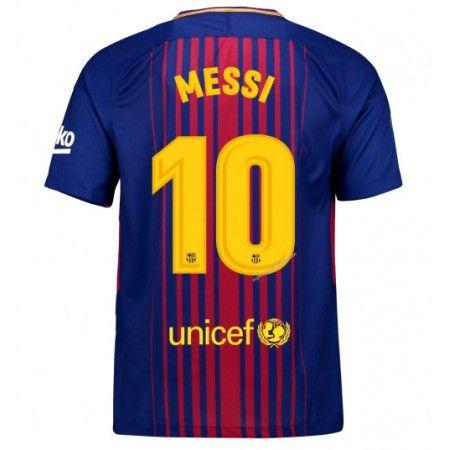 Barcelona Lionel Messi 10 Hjemmebanetrøje 17-18 Kort ærmer