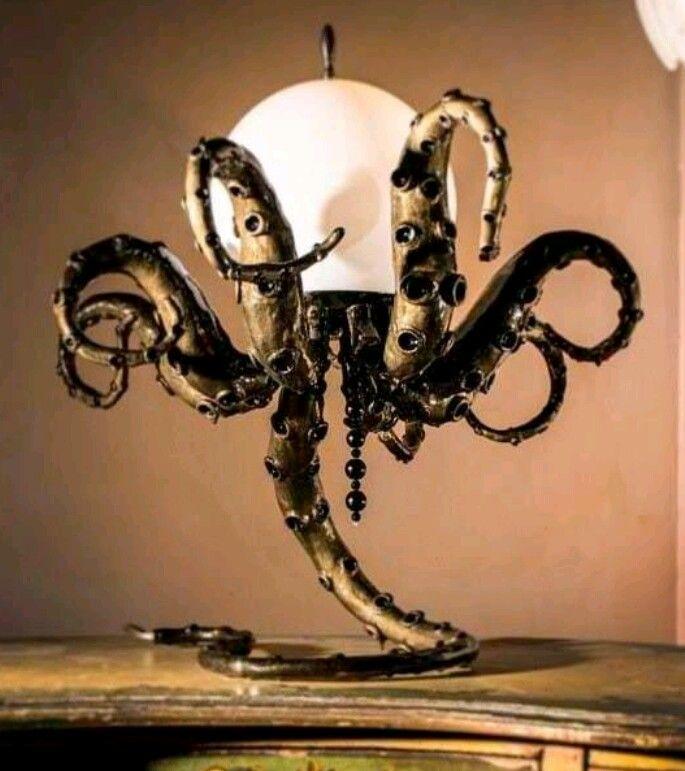 Interesting octopus lamp
