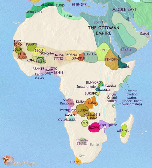 history map of africa 1789 ad