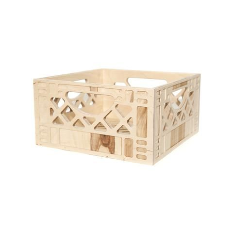 It's a chair, it's a table, a shelf, no wait.. it's a wooden milk crate!  Milk crates are one of the most useful and versatile containers. It can be  flipped, stacked, carried or wall-mounted, to fit any of its multi-use  functions.It is no wonder they go missing from milk companies from time t