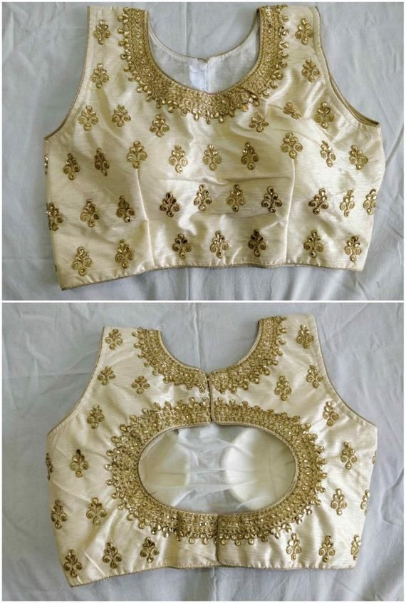Saree sari tradition India party wedding blouse ready made New stitch choli Top