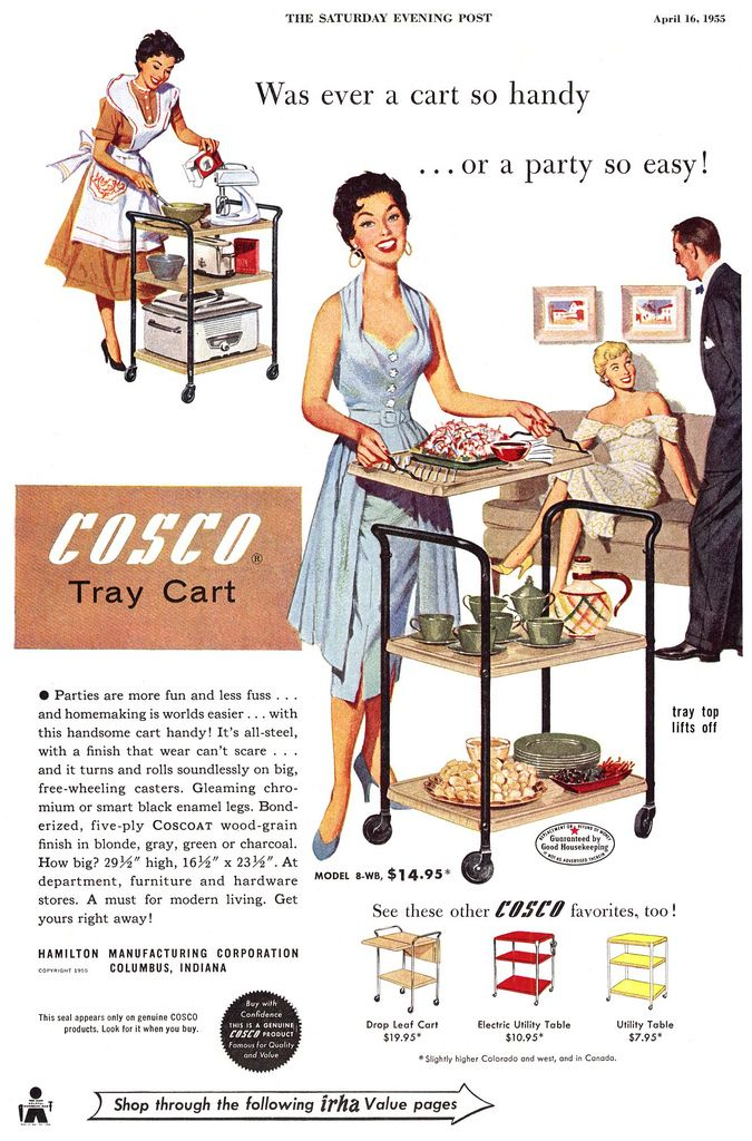 1955 Cosco Tray Cart Advertisement