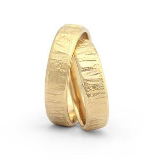 Hochwertige Eheringe in 585 Gelbgold Damenring, Herrenring: 5,5mm breit Oberfläche matt