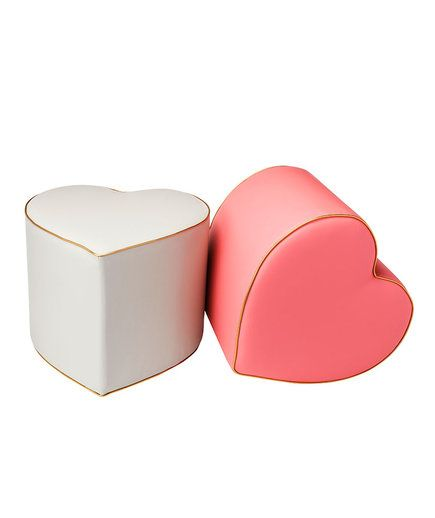 Heart Ottoman | The newest collection will add a pop of color to your home.