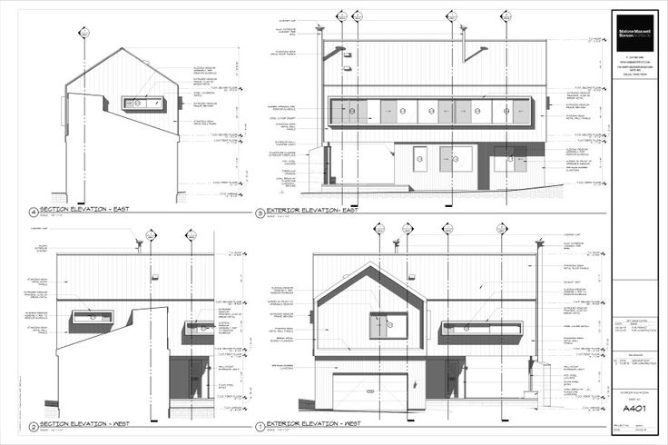 Modern House Drawings Bob Borson A401