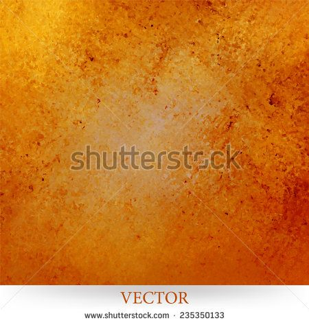 Rustic Gold Orange And Background Vector With Vintage Textured Paint