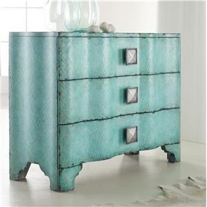 hooker furniture melange turquoise crackle chest available at furniture