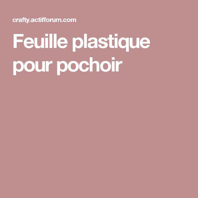 Feuille plastique pour pochoir