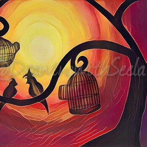 Just another edit 😊#edit #newdesign  #newstuff #artwork #colour #art #artist #pretty #design #effects #tattoo #birds #sunset #bright #watchingthesunset #tattoodesign #instaart #instaartist #instalove #instagood #gloomy #drawing #instago #instagram #prisma #work #thursdaypost  #dreamy #insta #illustratenow