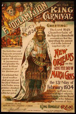 Rex Proclaims Mardi Gras
