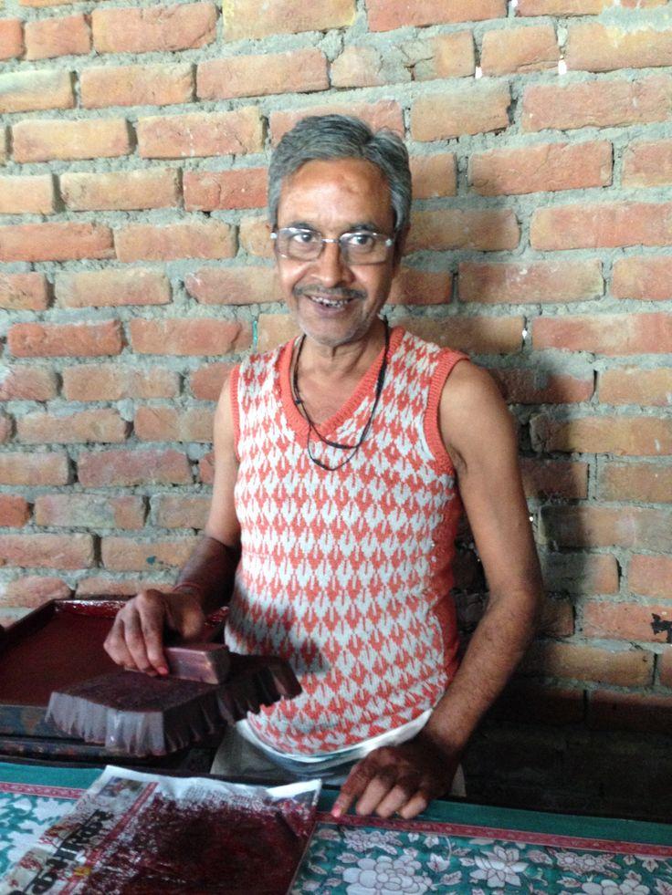 Dinesh, block print artist in N. India.