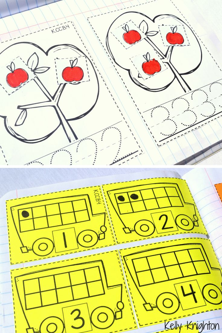 Kindergarten Interactive Math Journal - Number formation, Number sense, 10 frames, counting, cardinality,  & MORE!