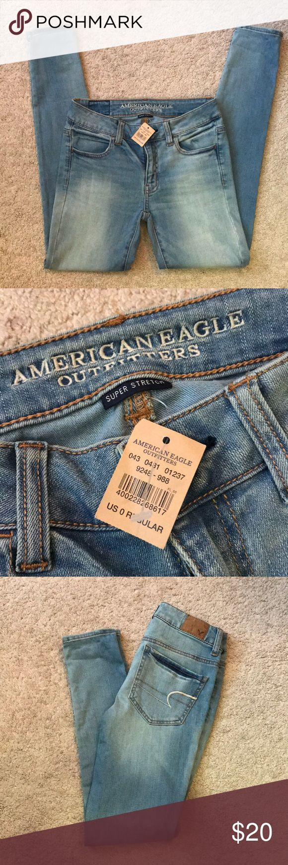 NWT American eagle skinny jeans Size 0 regular brand new AE skinny jeans. Paid $50 Cannot model they do not fit American Eagle Outfitters Jeans Skinny