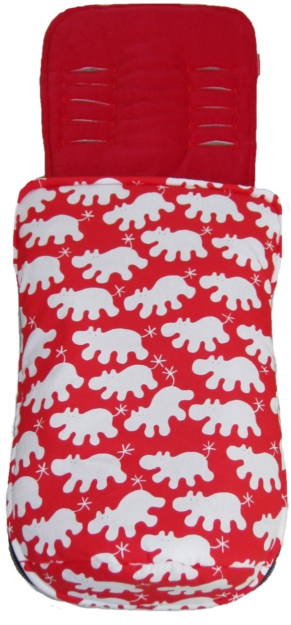 Hippo Red Snuggle Bag to fit Baby Jogger - Pramskins