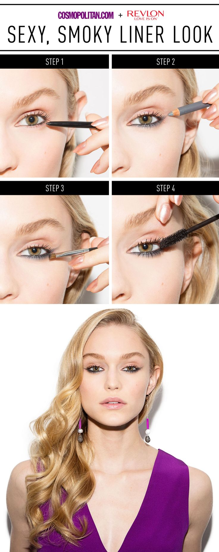 Play up your lower lash line for date night!