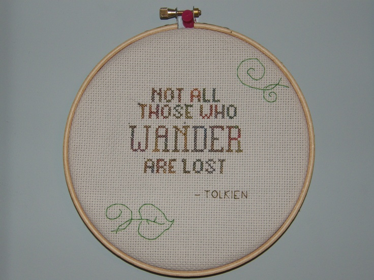 Simple cross-stitch. Freehand design.