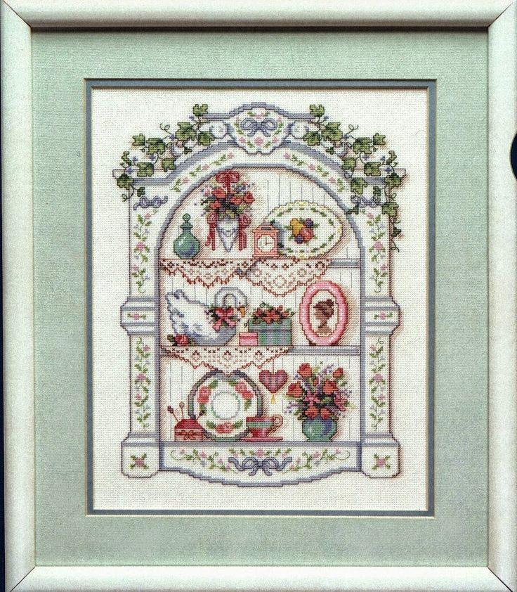Ricami, lavori e centinaia di schemi a punto croce di tutti i tipi, gratis: Schema punto croce- edicola romantica
