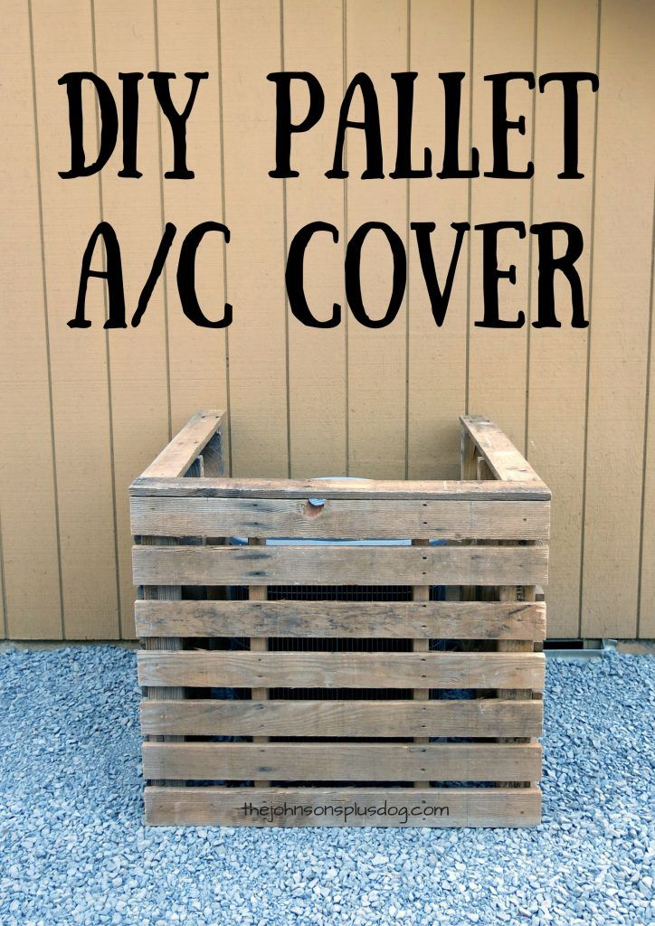 DIY Pallet AC Cover | Pallet Wood A/C Cover | Air Conditioning Cover | AC Screen…
