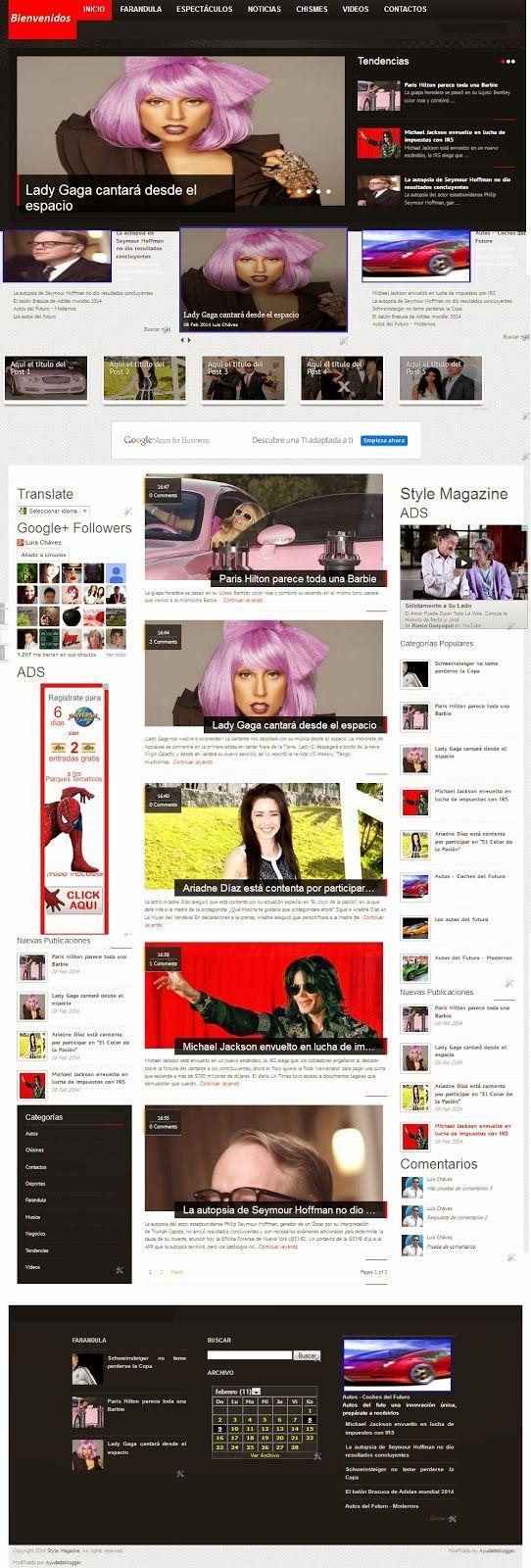 Plantillas Blogger – Línea Style Magazine | Widgets y Plugins para Blogger