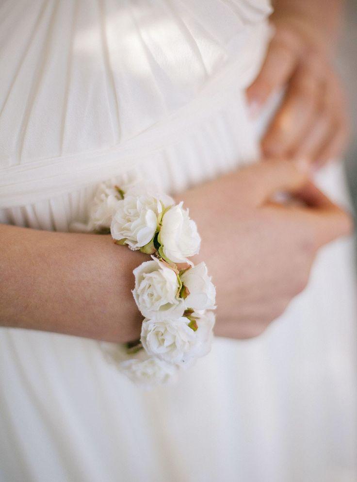 Roses ivoires bracelet Rosie mariage - English Garden