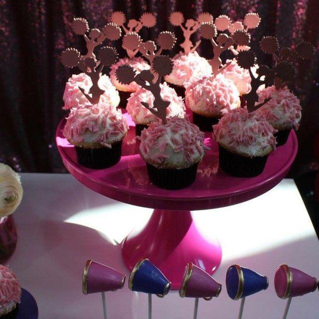 Cheer Cupcake Toppers, Cheerleader Cupcake, Cheer Decor, Cheerleader Party, Girl's Birthday Cupcake Toppers, Cheer Team Party Cupcakes