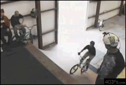 BMX flip. Wish I was that kinesthetically talented. It's a gif, click on it!