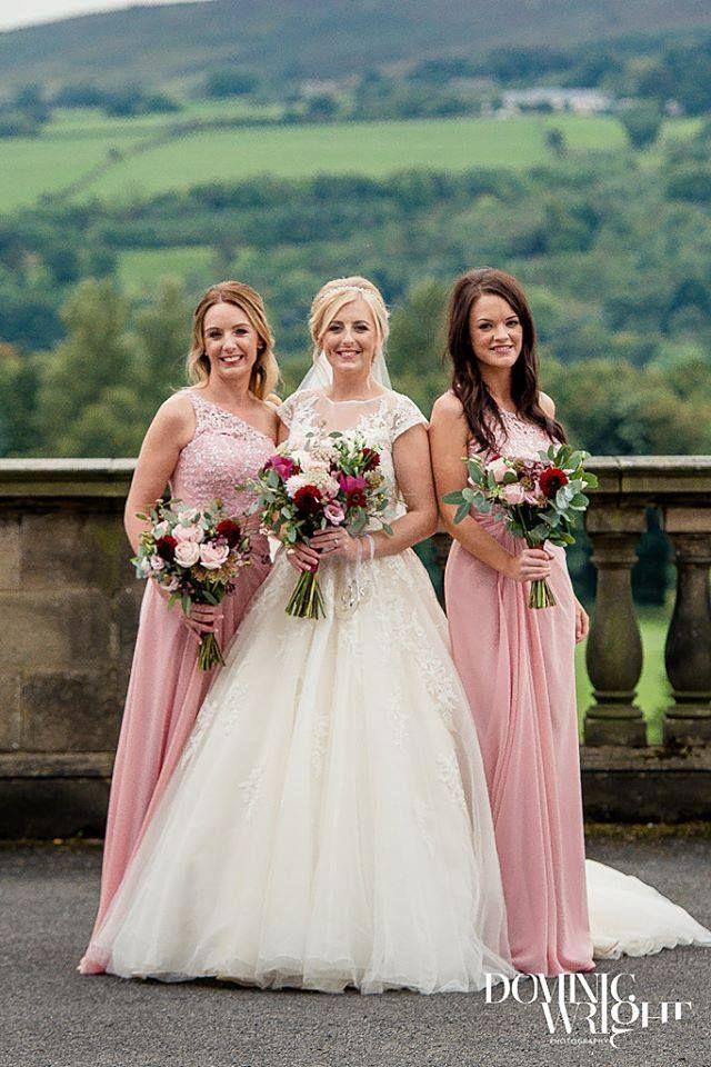 EN315 Bridesmaids dress in vintage rose