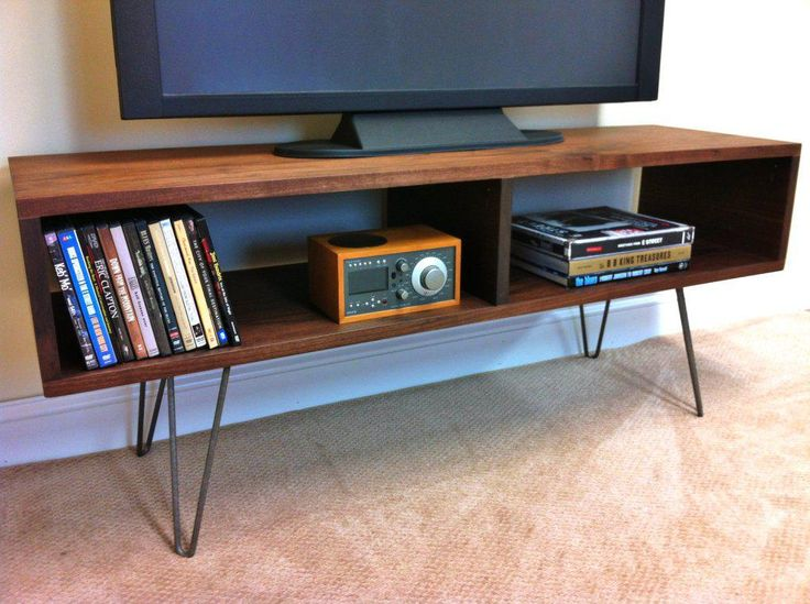 Image of: Mid Century Modern TV Stand With Book Shelf