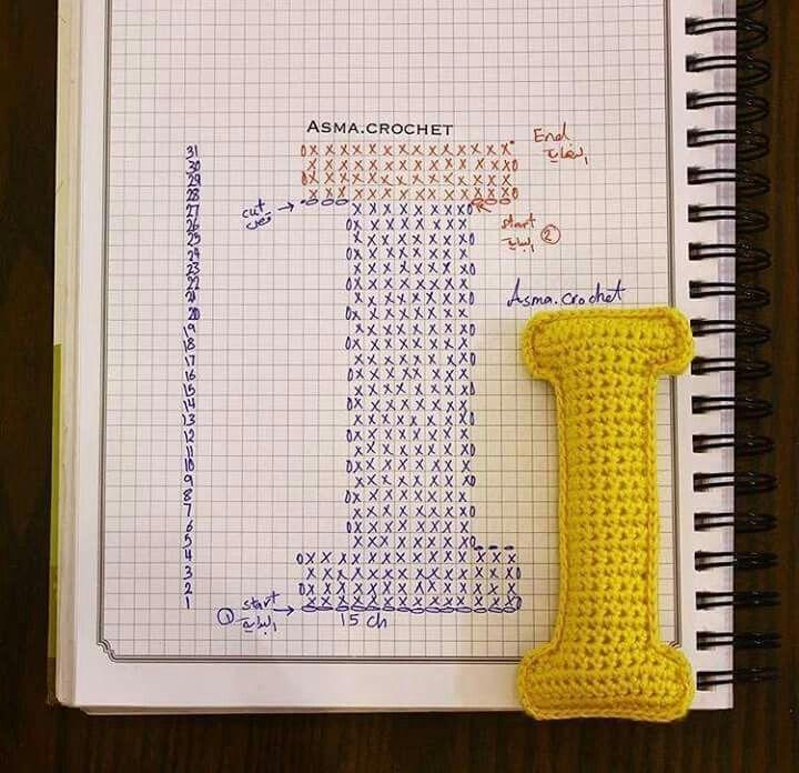 37 besten Alfabeto crochet Bilder auf Pinterest | Buchstaben häkeln ...