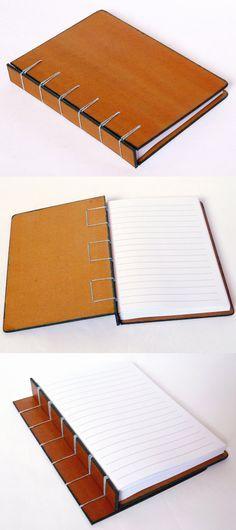 caderno pautado, encadernação belga, no Canteiro de Alfaces
