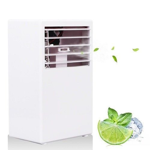 White Desktop Fan 3 Bladeless Cooler Cooling Humidifier New Portable Speed Spray #LOHOME