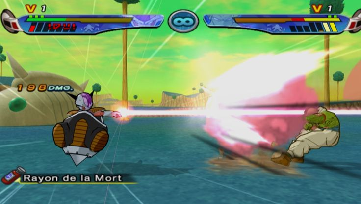 Frieza in his personal Vessel shoots Nail with a finger beam attack in Dragonball Z Budokai 3 (Freeza Mod in DBZB3).