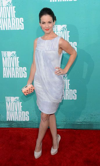 Martha MacIsaac photographed on the red carpet at the 2012 MTV Movie Awards in Los Angeles.