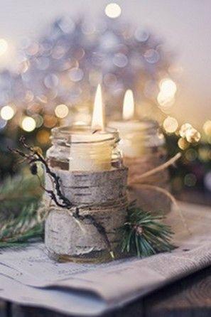 Bougie dans une ambiance de Noël / christmas candle