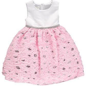 Pink Sequined Soutache Dress
