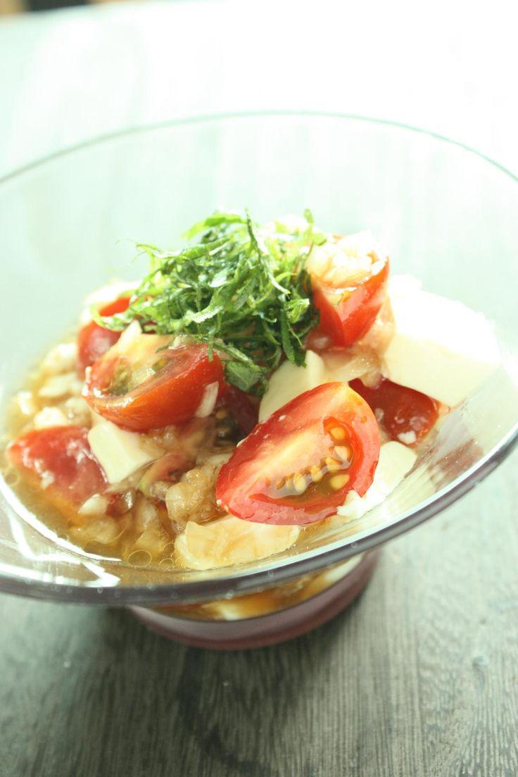ミニトマトと豆腐の和風カクテルサラダ | 美肌レシピ