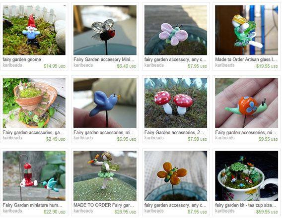 Fairy garden, small hummingbird, glass hummingbird, fairy garden supply, terrarium accessory, plant stake, dollhouse miniature, garden – Lampwork Glass