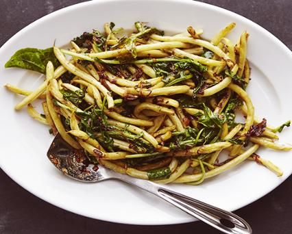 Seared Yellow Wax Beans 'n' Greens Recipe - AllClad