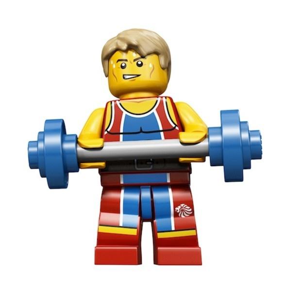 Lego 2012 Olympic Team GB Weightlifter minifig