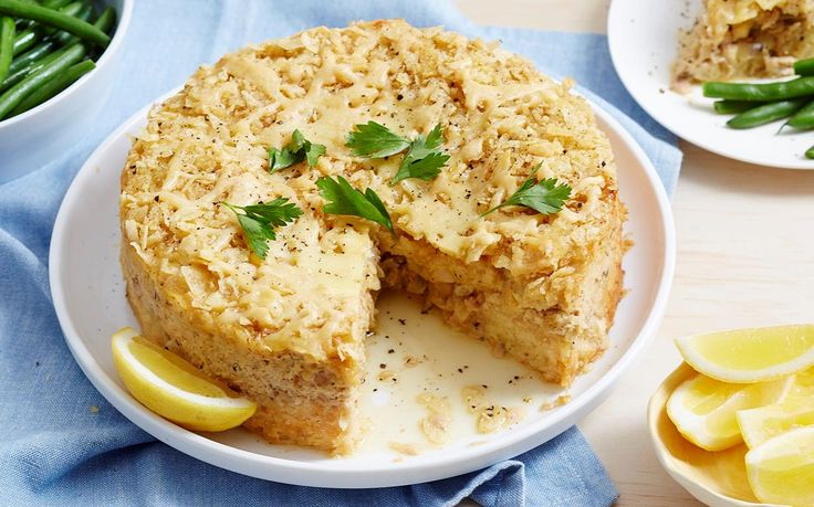 This easy tuna pie recipe uses crushed potato chips to form a crunchy topping for this hearty seafood filling. It makes a great family dinner idea.