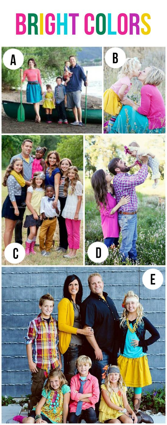 Bright Colors for Family Pictures
