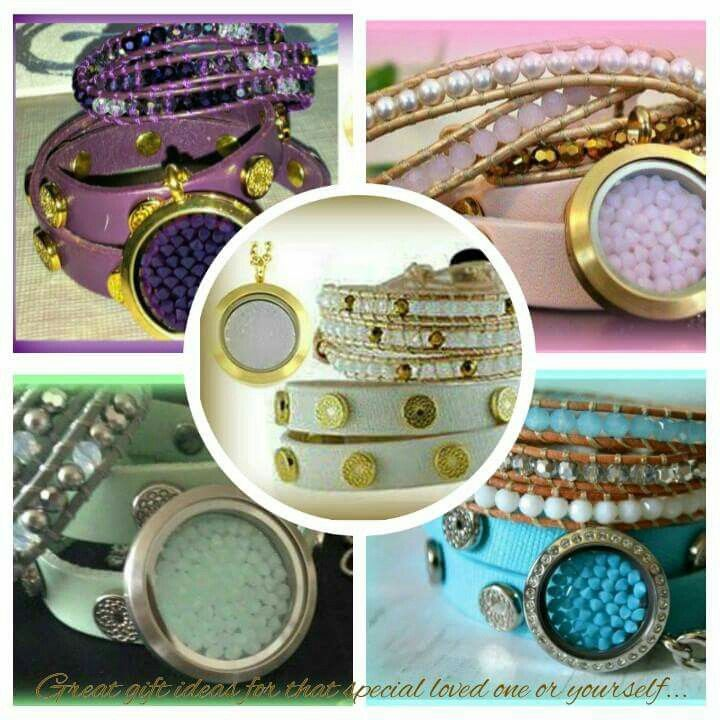Beautiful colours, Swarovski Crystal, customizable lockets,  leather wraps,  so many choices.   Www.southhilldesigns.com/elisamurphy Independent Artist #341232