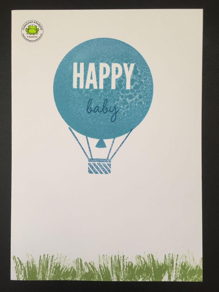 Het is de week van de baby kaartjes. Op mijn blog dan ;-) Vandaag een wat eenvoudiger kaartje, voor hen die niet van teveel poespas houden. Want een ballon past niet alleen bij een verjaardag, maar…