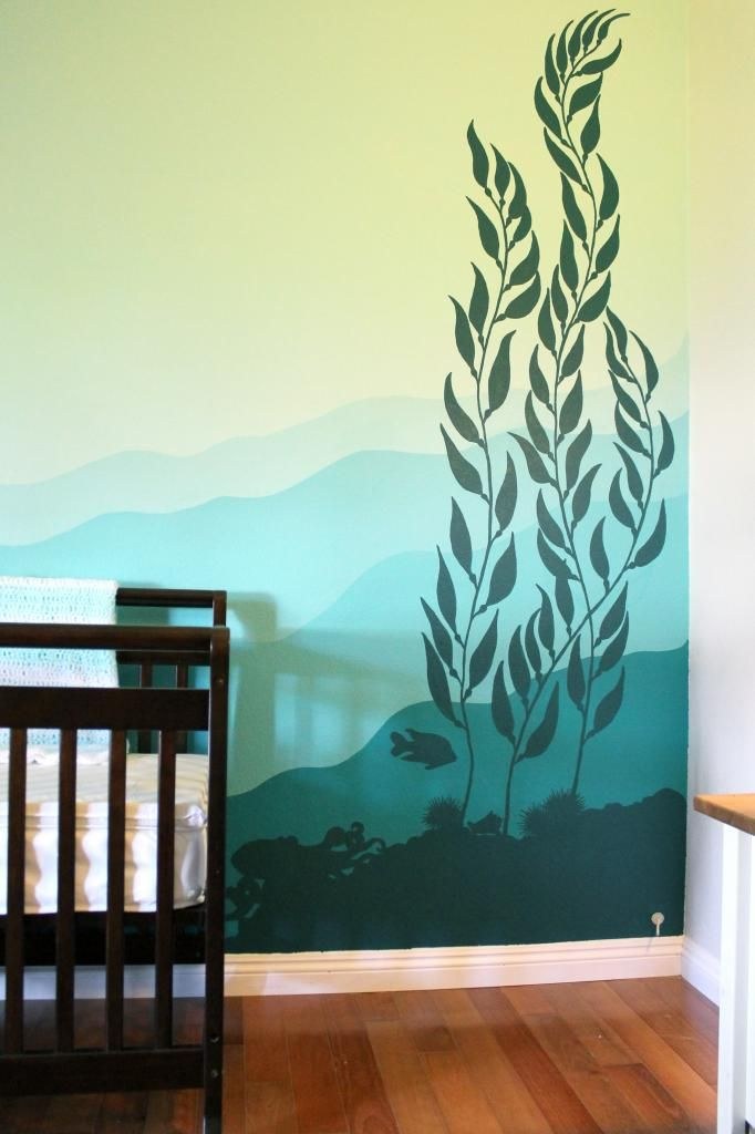Kelp Forest Nursery // JJA Murals if I was still thinking ocean theme this would be great