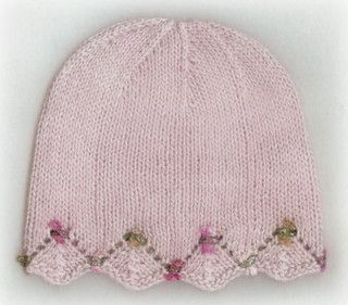 One Day Baby Hat Pink by lv2knit, via Flickr Free pattern. Adorable