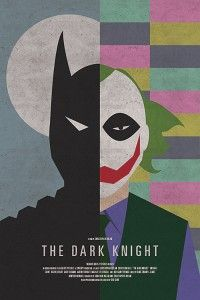 darkknight - this design is a very well designed poster. Its asymmetric feel between the two characters (batman and the joker) are very nice. It catches the views attention.